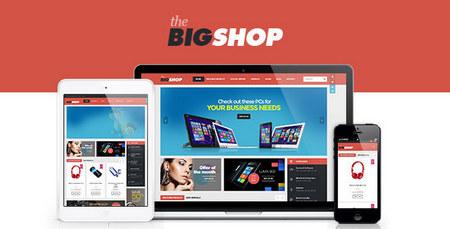دانلود قالب فروشگاهی BigShop برای ووکامرس
