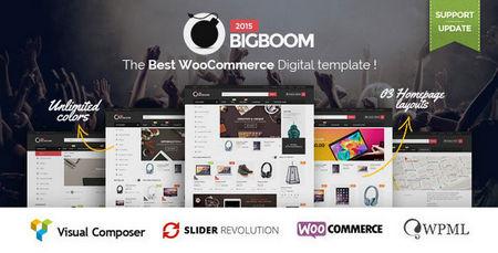 دانلود قالب فروشگاهی Bigboom برای ووکامرس