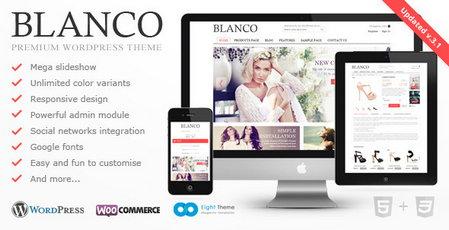 دانلود قالب فروشگاهی و چندمنظوره Blanco نسخه 3.1 برای ووکامرس