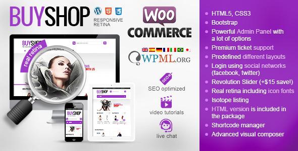 قالب فروشگاهی BuyShop نسخه 1.0.15 برای ووکامرس