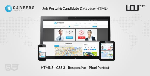 پورتال کاریابی و پایگاه داده های نامزد به صورت HTML
