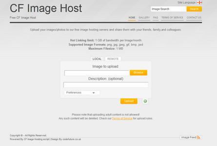 دانلود اسکریپت آپلود سنتر عکس CF Image Hosting 1.6.5