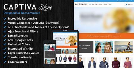قالب فروشگاهی Captiva نسخه 1.9.1 برای وردپرس