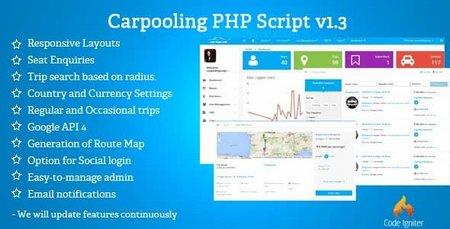 اسکریپت مدیریت خودروی اشتراکی Carpooling or Ridesharing نسخه 1.4