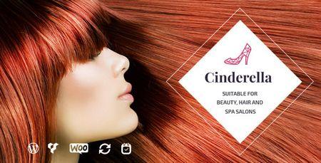 پوسته مو و سالن زیبایی سیندرلا Cinderella برای وردپرس