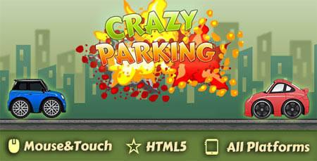 اسکریپت بازی آنلاین HTML پارکینگ دیوانه Crazy Parking