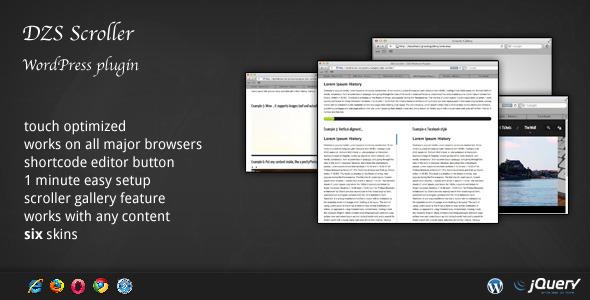 افزونه ایجاد اسکرولبار با DZS Scroller نسخه 4.0