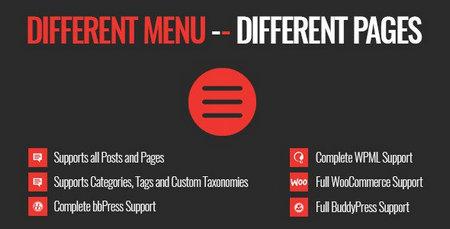 افزونه منو های مختلف در صفحات مختلف برای وردپرس