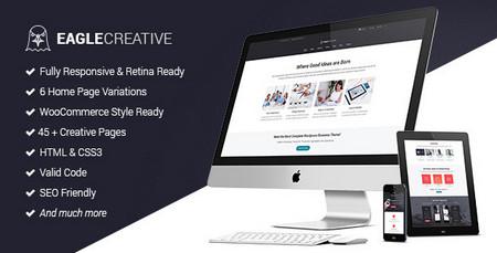 دانلود قالب خلاقانه و کسب و کار Eagle به صورت HTML