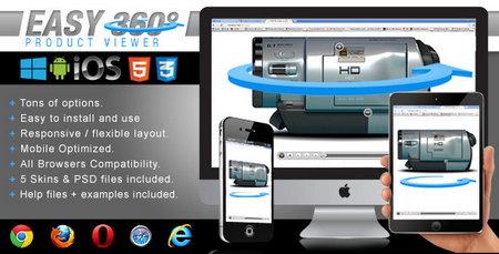 اسکریپت نمایش 360 درجه ای محصول Easy 360 Product Viewer