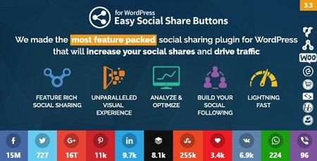 افزونه وردپرس دکمه اشتراک گذاری مطالب Easy Social Share Buttons نسخه ۳٫۴٫۱