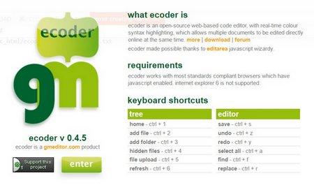 اسکریپت ویرایش و برنامه نویسی آنلاین Ecoder
