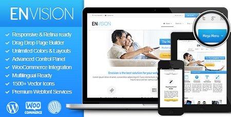 پوسته چند منظوره Envision وردپرس نسخه 2.1.0