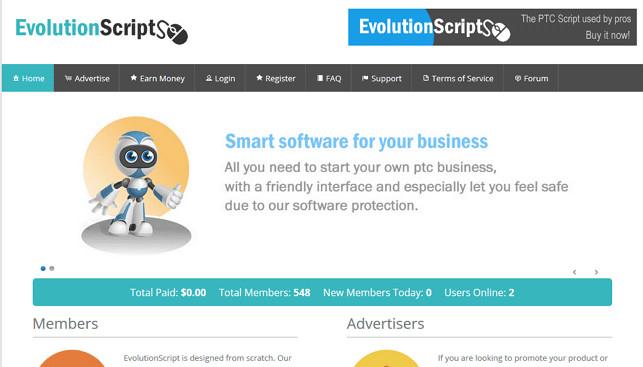 اسکریپت تبلیغات کلیکی Evolution Script v5.0 فارسی