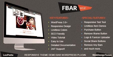 افزونه وردپرس نمایش دموی قالب ها و اسکریپت ها FBar نسخه 1.4