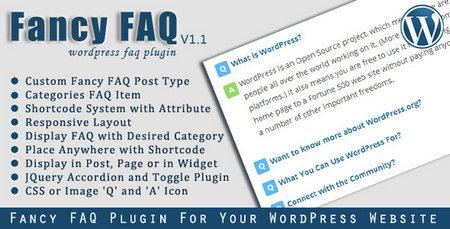 افزونه وردپرس سوالات متداول Fancy FAQ