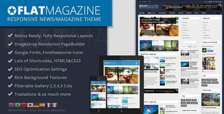 دانلود رایگان قالب FlatMagazine برای ورد پرس
