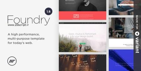 دانلود پوسته وردپرس چندمنظوره Foundry نسخه ۱٫۸٫۱۰