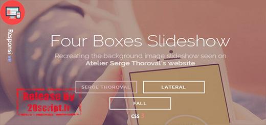 اسلایدر حرفه ای و واکنشگرای Four Boxes