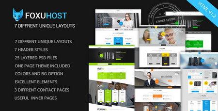 دانلود قالب وب هاستینگ Foxuhost به صورت HTML
