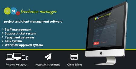 اسکریپت مدیریت مشتری و پروژه Freelance Manager نسخه 3.01