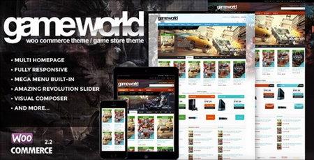 دانلود قالب فروشگاهی GameWorld برای ووکامرس