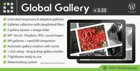 افزونه ایجاد گالری تصاویر حرفه ای در وردپرس Global Gallery نسخه 6.21