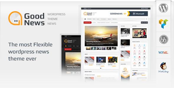 قالب خبری Goodnews نسخه 5.0.3 برای وردپرس