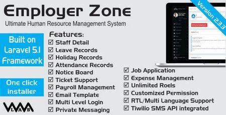 اسکریپت مدیریت منابع انسانی HRM   Employer Zone نسخه 2.3.3