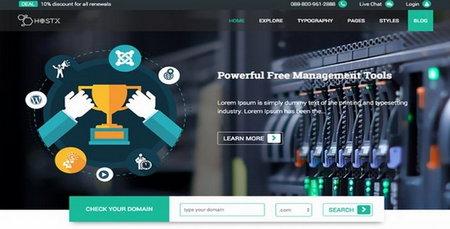 دانلود قالب میزبانی وب HostX برای جوملا