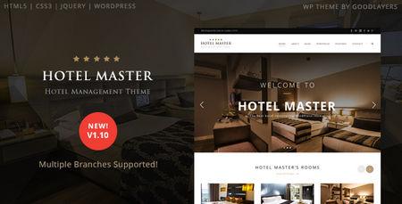 دانلود قالب هتل داری و رزرواسیون Hotel Master برای وردپرس