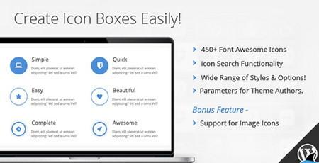 افزونه جعبه آیکون Icon Box برای صفحه ساز WPBakery