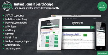 اسکریپت پیشرفته جستجوگر دامنه Instant Domain Search Script