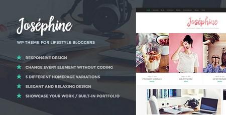 پوسته وبلاگ نویسی Josephine نسخه ۱٫۱٫۱ برای وردپرس