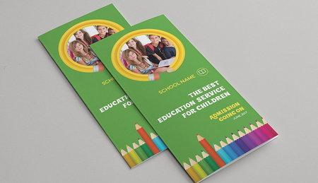 دانلود طرح لایه باز بروشور 3 لت مدرسه و دانش آموزی