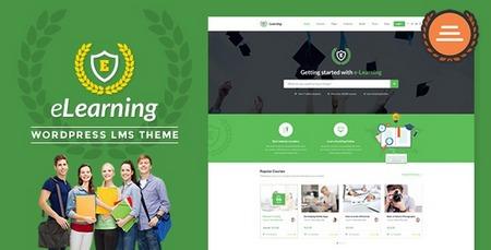 دانلود پوسته مدیریت آموزشی eLearning برای وردپرس