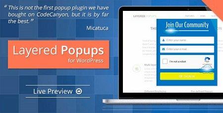 افزونه وردپرس پاپ آپ حرفه ای Layered Popups نسخه 5.32