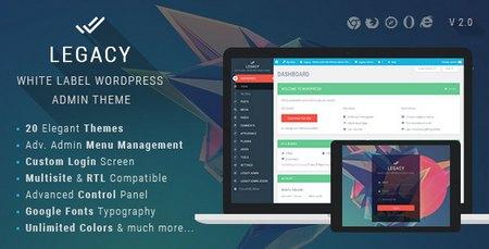 تغییر پوسته مدیریت وردپرس با افزونه فارسی Legacy نسخه 7.2