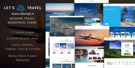 پوسته رزرو تور های مسافرتی Let's Travel برای وردپرس