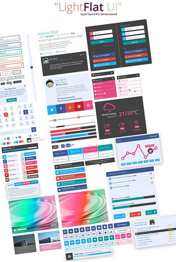 دانلود فایل لایه باز عناصر مختلف با طراحی فلت
