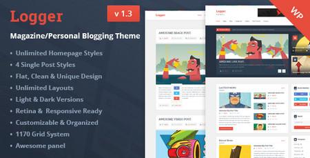 دانلود قالب مجله ای و وبلاگی لاگر برای وردپرس