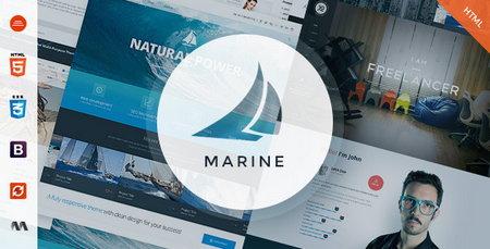 دانلود قالب HTML و چند منظور Marine