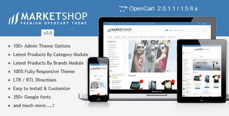 دانلود قالب فروشگاهی MarketShop برای اپن کارت