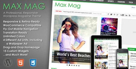 دانلود قالب مجله خبری Max Mag برای وردپرس