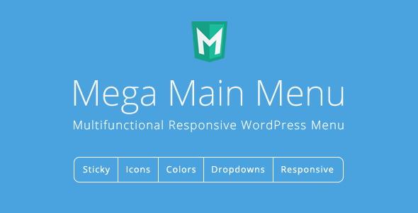 افزونه وردپرس منو افقی Mega Main Menu نسخه 2.0.7