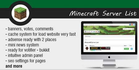 اسکریپت مدیریت سرور Minecraft Server List نسخه 1.4
