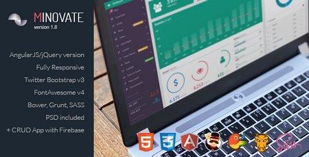 قالب HTML مدیریت وب سایت Minovate نسخه 1.8