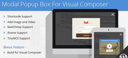 افزونه پاپ آپ Modal Popup Box برای ویژوال کامپوسر نسخه 1.4.8