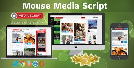 اسکریپت اشتراک گذاری عکس و فیلم Mouse Media Script نسخه ۱٫۶