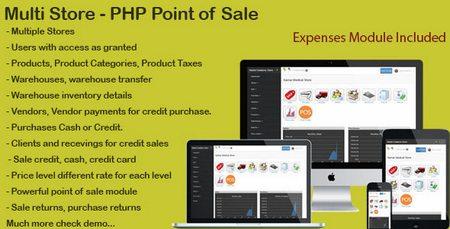 اسکریپت مدیریت مجموعه فروشگاه PHP Point Of Sale نسخه 1.1